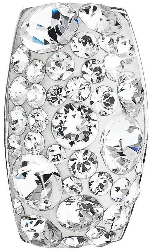 Stříbrný přívěsek s krystaly Swarovski bílý obdélník 34194.1 Krystal