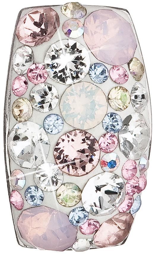 Stříbrný přívěsek s krystaly Swarovski růžový obdélník 34194.3 Magic Rose