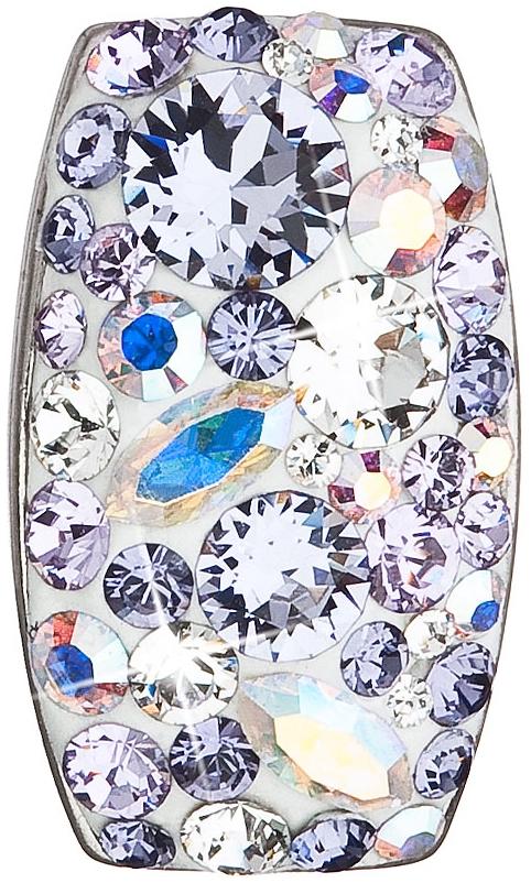 Stříbrný přívěsek s krystaly Swarovski fialový obdélník 34194.3 Violet