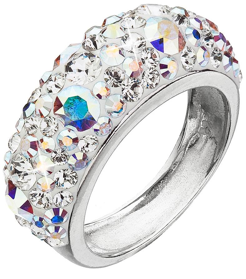 Stříbrný prsten s krystaly Swarovski ab efekt 35031.2 AB