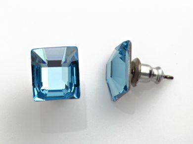 Náušnice se Swarovski Elements s křišťálem modré 713903-m