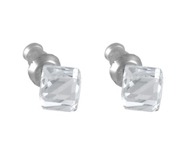 Náušnice Swarovski - kostka na pevno 6 mm krystal