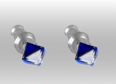 Náušnice Swarovski Elements modroměnivé 713864-bb, 4mm, pecky, bermuda blue