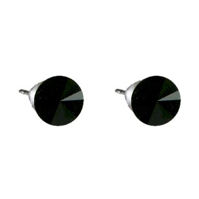 Náušnice černé Rivoli se Swarovski Elements Jet 8 mm