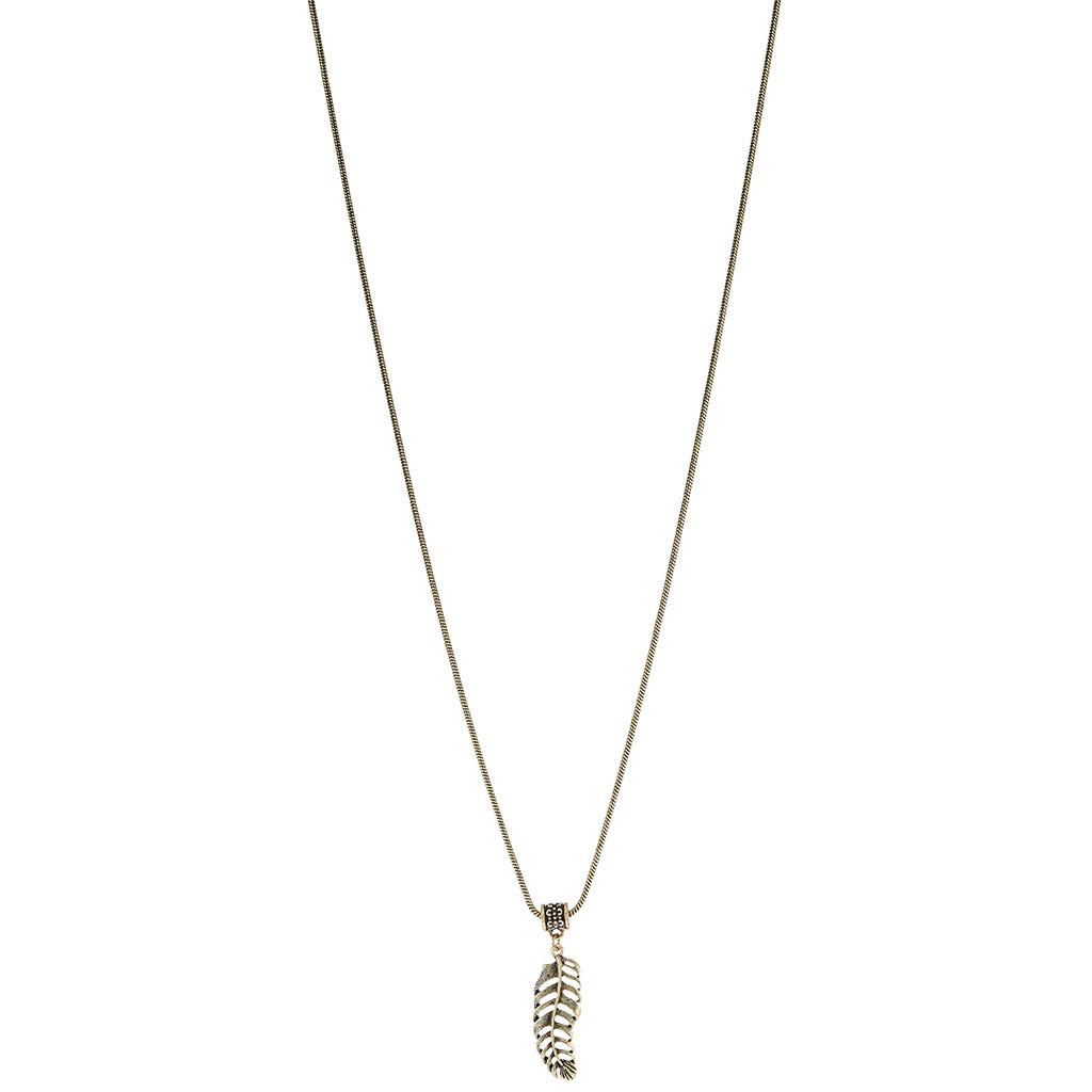 Classics77 - Pozlacený náhrdelník s pírkem Plantation