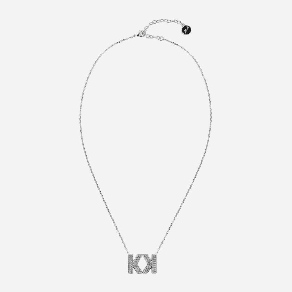Karl Lagerfeld - Dvojitý K náhrdelník stříbrné barvy