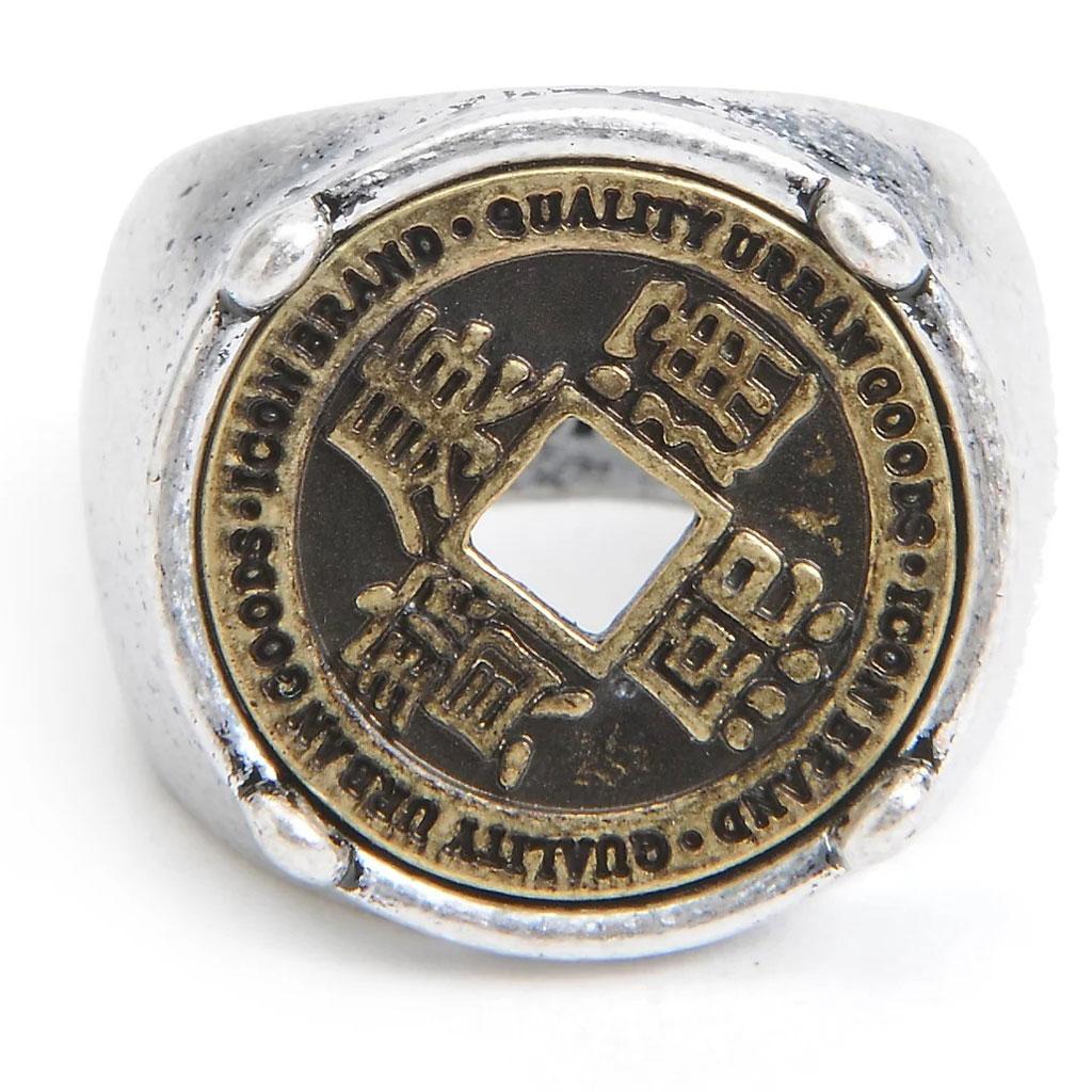 Icon Brand - Pánský prsten / prstýnek Imperial Yen stříbrné barvy