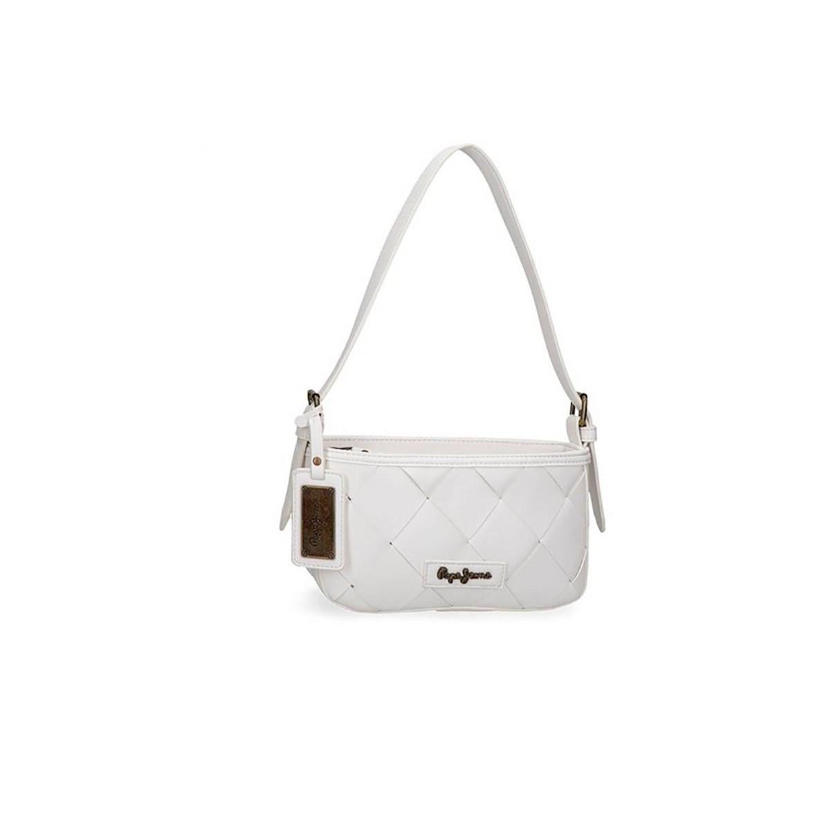 Pepe Jeans dámská bílá kabelka CUTOUTS SHOULDER BAG