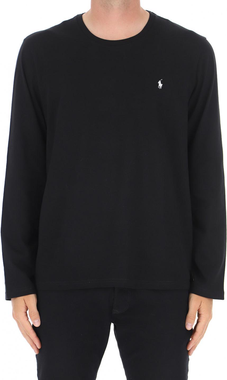 Polo Ralph Lauren pánské černé tričko s dlouhým rukávem