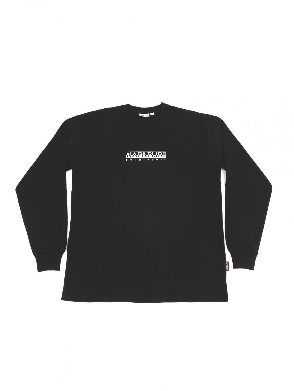Napapijri pánské černé tričko s dlouhým rukávem