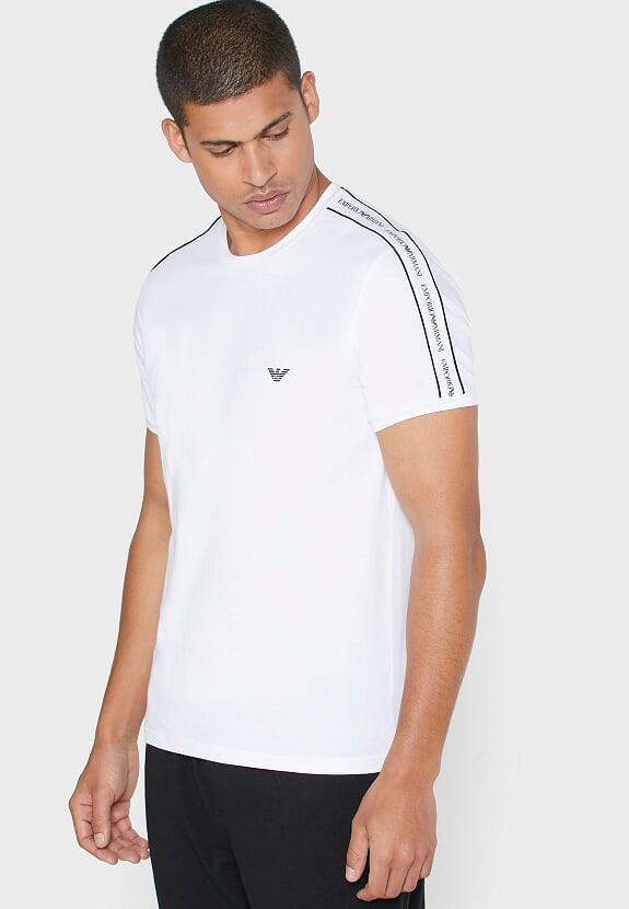 Emporio Armani pánské bílé tričko
