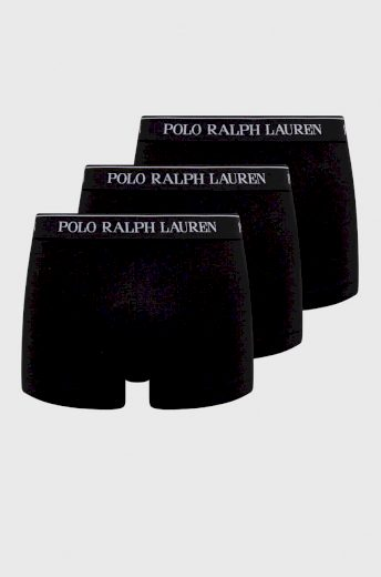 Polo Ralph Lauren pánské černé boxerky - 3 kusy v balení