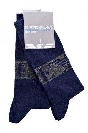 Emporio Armani pánské námořnicky modré ponožky - 2 páry ONESIZE