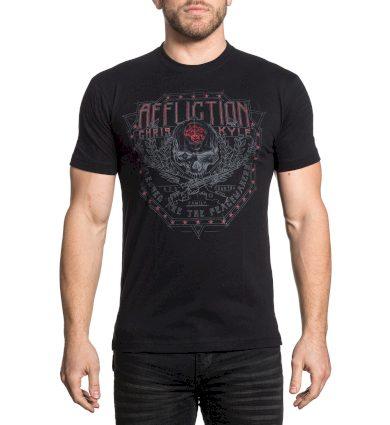 Affliction pánské tričko černé CK BALLISTICA
