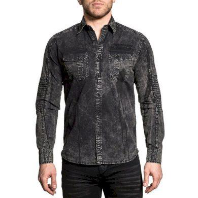 Affliction pánská košile tmavě šedá TEMPER