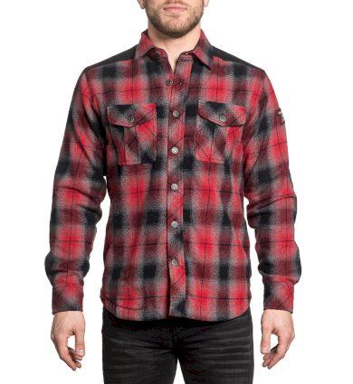 Affliction pánská košile červená EMERSON