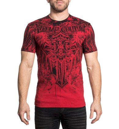Affliction pánské tričko červené LIFETAKER