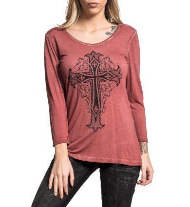Affliction dámské tričko červené ISABELLA