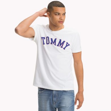TOMMY JEANS pánské bílé tričko