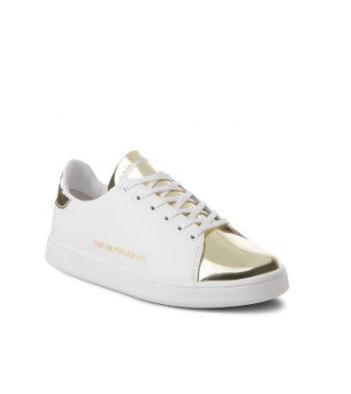 Emporio Armani dámské bílo-zlaté tenisky