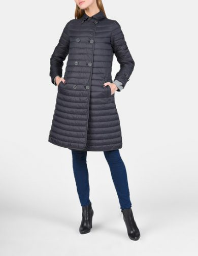Emporio Armani dámská dlouhá bunda šedá