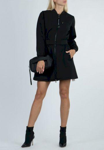 Emporio Armani dámská dlouhá bunda tmavě modrá