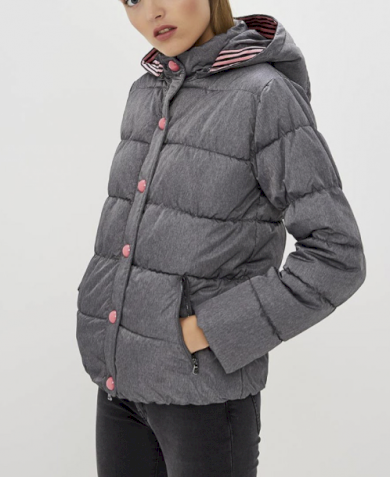 Emporio Armani dámská bunda šedá s kapucí