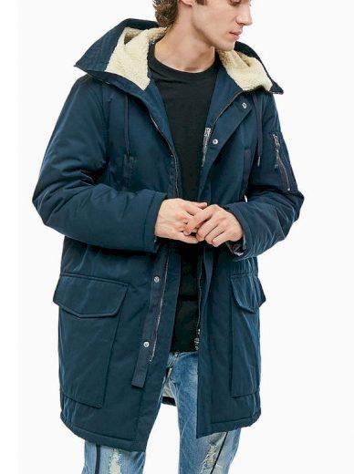 Emporio Armani pánská zimní bunda tmavě modrá