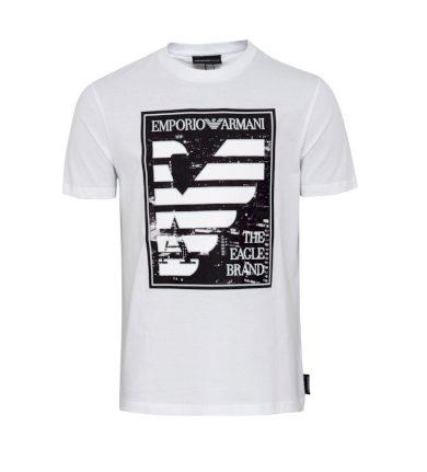 EMPORIO ARMANI pánské tričko bílé
