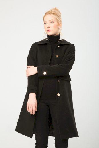 Fontana dámský černý kabát