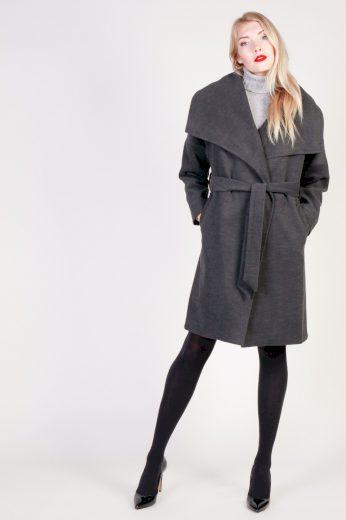 Fontana dámský tmavě šedý kabát