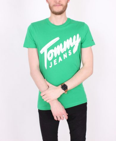 TOMMY HILFIGER pánské zelené tričko