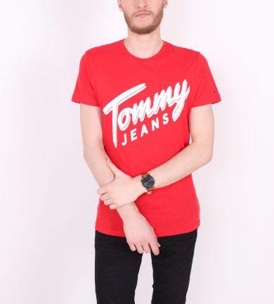 TOMMY HILFIGER pánské červené tričko