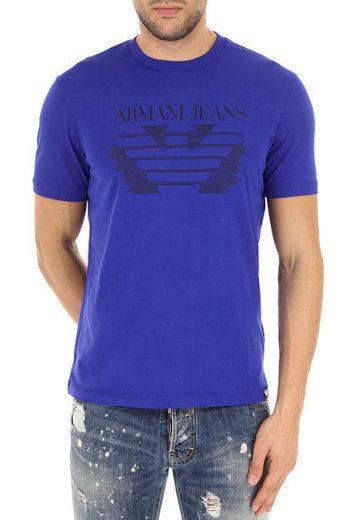 EMPORIO ARMANI pánské tričko modré