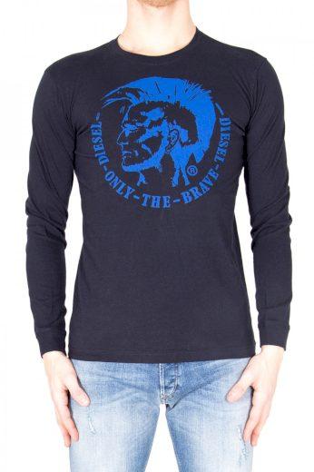 Diesel pánské tmavě modré tričko s dlouhým rukávem