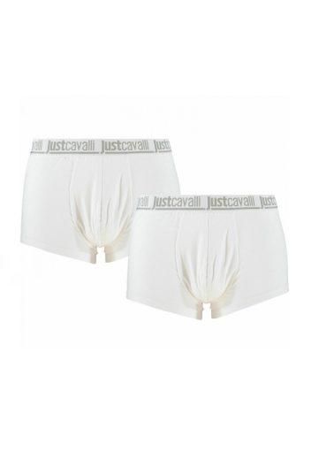 Just Cavalli pánské bílé boxerky 2 ks