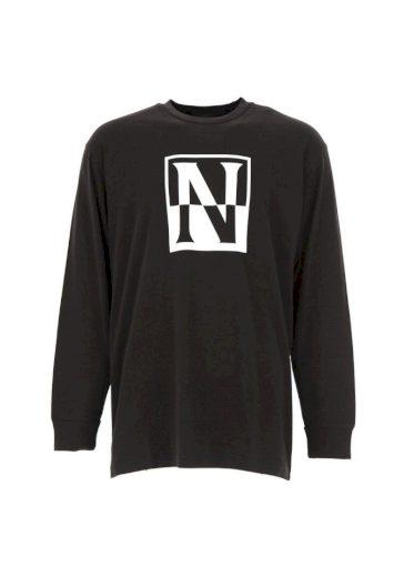 NAPAPIJRI černé tričko s dlouhým rukávem UNISEX