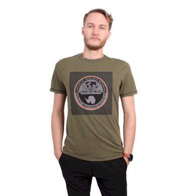 NAPAPIJRI pánské tmavě zelené tričko