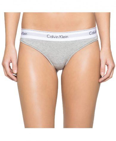 Calvin Klein dámská šedá tanga