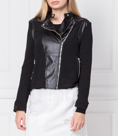 GUESS černá kožená bunda