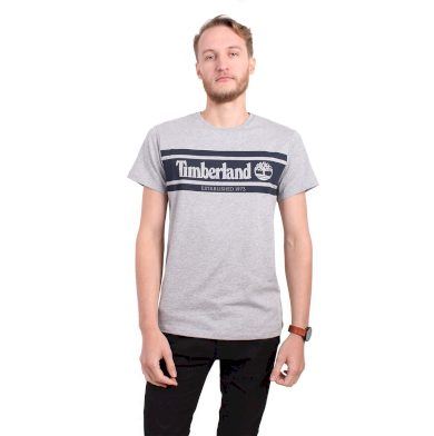 Timberland pánské šedé tričko