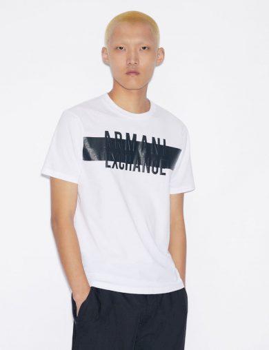 Armani Exchange pánské bílé tričko