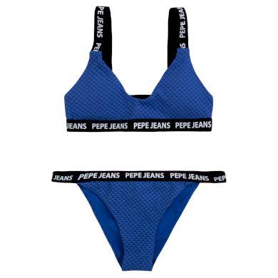 Pepe Jeans dámské modré plavky Naomi