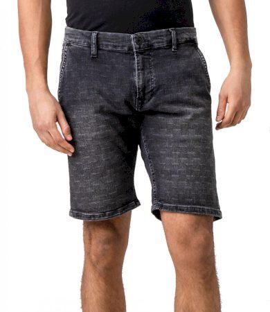 Pepe Jeans pánské denim černé kraťasy Noah short checkered