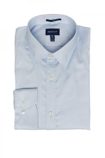 GANT pánská světle modrá košile stretch plain sateen slim town
