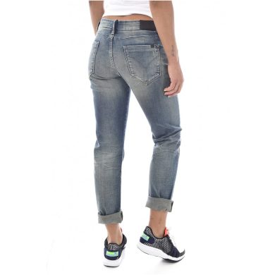 Calvin Klein dámské modré denim džíny Boy Slim Stretch