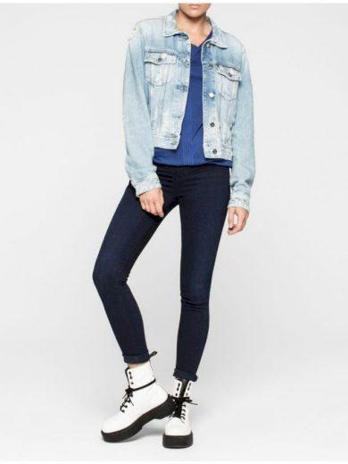 Calvin Klein dámské modré džíny s vyšším pasem