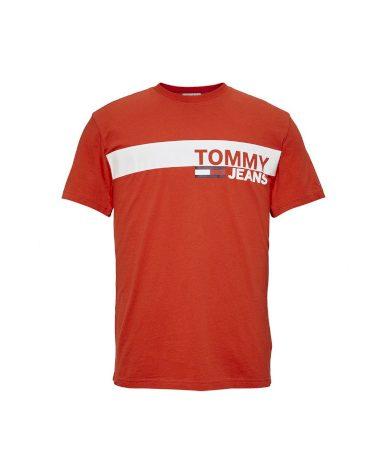 TOMMY HILFIGER pánské oranžové tričko