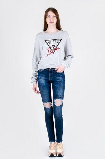 GUESS dámské roztrhané denim džíny