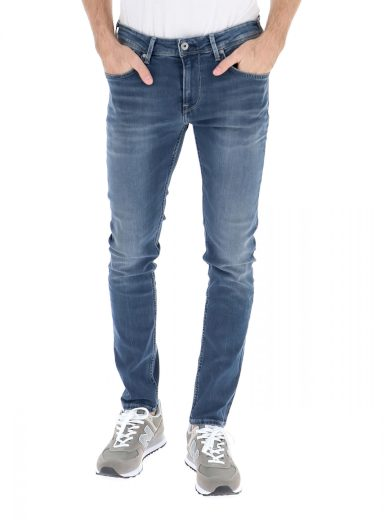 Pepe Jeans pánské modré džíny FINSBURY
